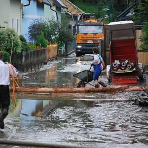 Aufräumarbeiten nach Unwetter in der Steiermark