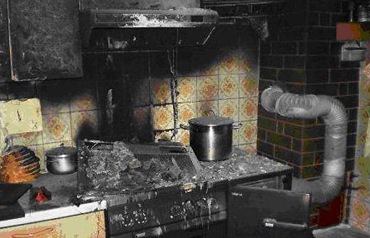 Küchenbrand in Öblarn