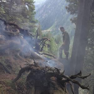 Waldbrand in der Kleinsölk