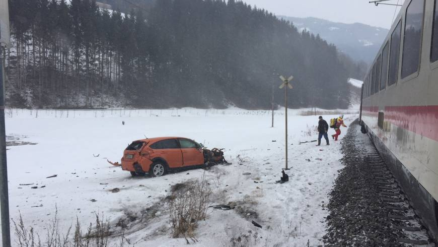 Unfall mit Schienenfahrzeug