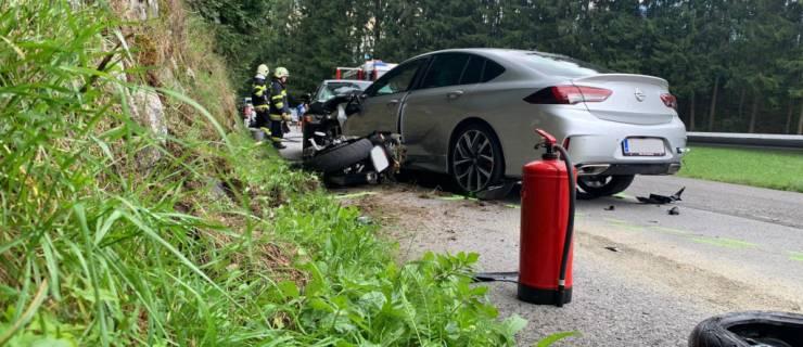 Motorradunfall auf der L704