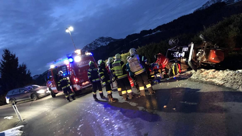 Traktorunfall am Pruggererberg